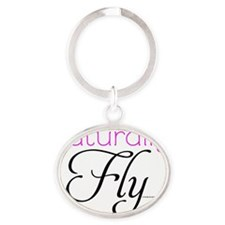 Naturally Fly Oval Keychain