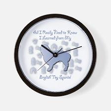 Learned Spaniel Wall Clock