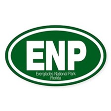 Everglades National Park Oval Decal