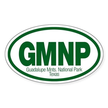 Guadalupe Mountains National Park Oval Sticker