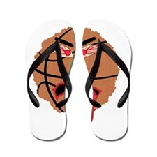 Funny March Madness Basketball Flip Flops