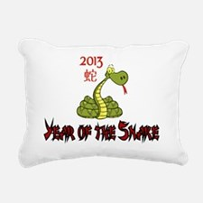 2013 Year of the Snake Rectangular Canvas Pillow