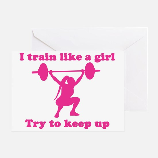 Train Like a Girl Greeting Card