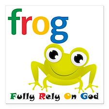 "F.R.O.G. Square Car Magnet 3"" x 3"""