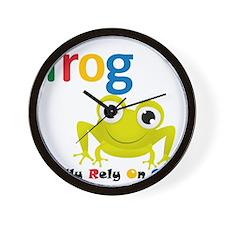 F.R.O.G. Wall Clock