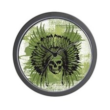 Skull Headdress Wall Clock