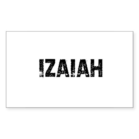 Izaiah Rectangle Sticker