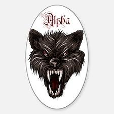 Alpha Dog Wolf  Sticker (Oval)