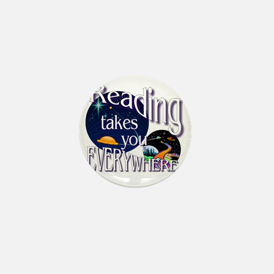 Reading Takes You Everywhere BL Mini Button
