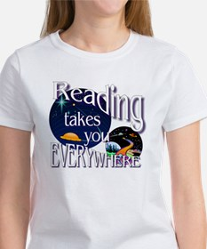 Reading Takes You Everywhere BL Women's T-Shirt
