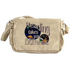 Reading Takes You Everywhere BL Messenger Bag