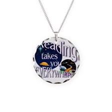 Reading Takes You Everywhere Necklace
