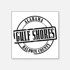 "Gulf Shores Title W Square Sticker 3"" x 3"""
