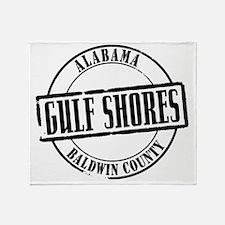 Gulf Shores Title W Throw Blanket