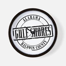 Gulf Shores Title W Wall Clock