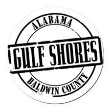 Gulf Shores Title W Round Car Magnet