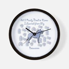 Learned Beauceron Wall Clock