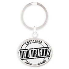 New Orleans Title W Oval Keychain