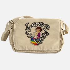 Rainbow girl BL Messenger Bag