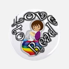 "Rainbow girl BL 3.5"" Button"