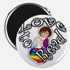 Rainbow girl BL Magnet