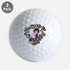 Rainbow girl BL Golf Ball