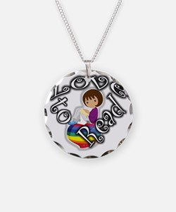 Rainbow girl BL Necklace Circle Charm