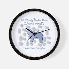 Learned Bergamasco Wall Clock