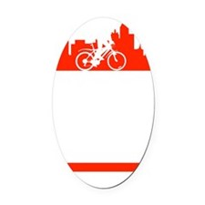 Bike Dallas Oval Car Magnet