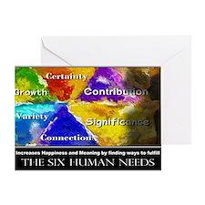 The Six Human Needs Greeting Card