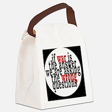 warquestionsbutton Canvas Lunch Bag