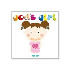 "Gods Girl Square Sticker 3"" x 3"""