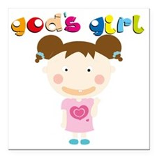 "Gods Girl Square Car Magnet 3"" x 3"""