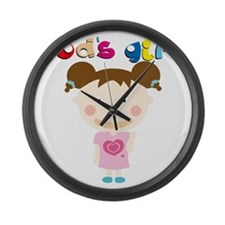 Gods Girl Large Wall Clock
