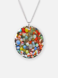 Vintage Colorful Marbles Necklace