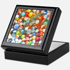 Vintage Colorful Marbles Keepsake Box