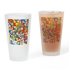 Vintage Colorful Marbles Drinking Glass