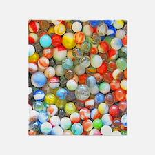 Vintage Colorful Marbles Throw Blanket
