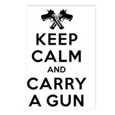 Keep Calm and Carry a Gun Postcards (Package of 8)