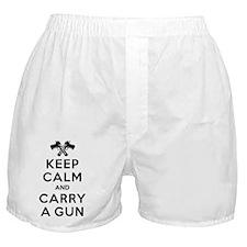 Keep Calm and Carry a Gun Boxer Shorts