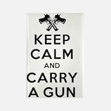 Keep Calm and Carry a Gun Rectangle Magnet