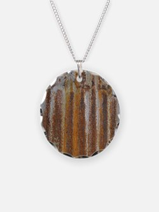 Rusty Tin Necklace