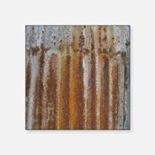 "Rusty Tin Square Sticker 3"" x 3"""
