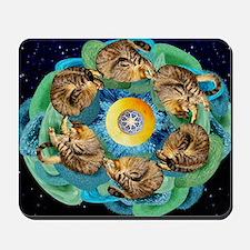 Cosmic Cats C horiz lt Mousepad