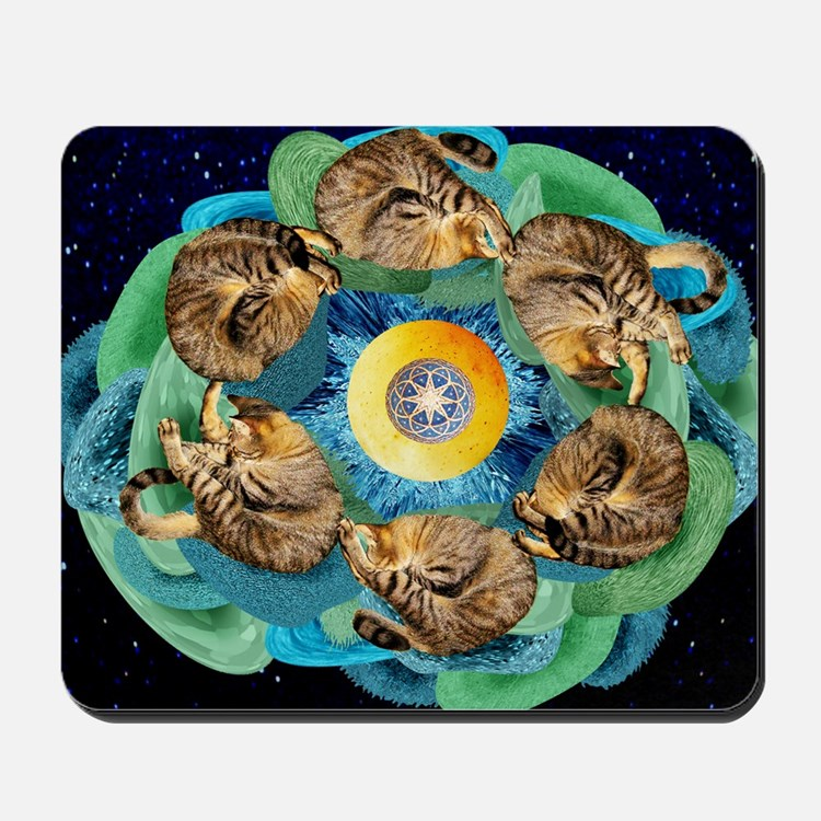 Cosmic Cats C horiz lt Mousepad