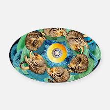 Cosmic Cats C horiz lt Oval Car Magnet