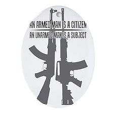 Citizen vs. Subject Oval Ornament