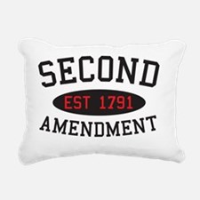 Second Amendment, Est. 1 Rectangular Canvas Pillow