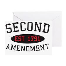 Second Amendment, Est. 1791 Greeting Card