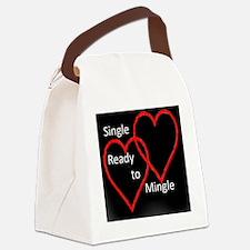Single Dark Canvas Lunch Bag